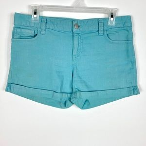Tommy Hilfiger Short Shorts Sz 6 Turquoise Cuffed